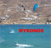 Kiting in Myskonos